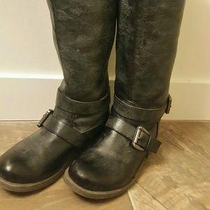 Madden Girl grey wash riding boots